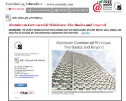 St. Cloud Window launches new online Continuing Education course