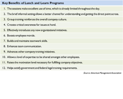 Maximize Your Time with Lunch and Learn Programs