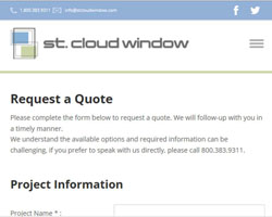 St. Cloud Window Launches Online Quote Request Process