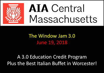 Window Jam 3.0: A Continuing Education Session offered June 19