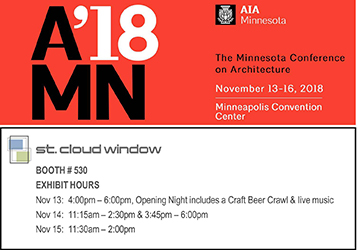 Join St. Cloud Window at the AIA Minnesota 2018 Conference