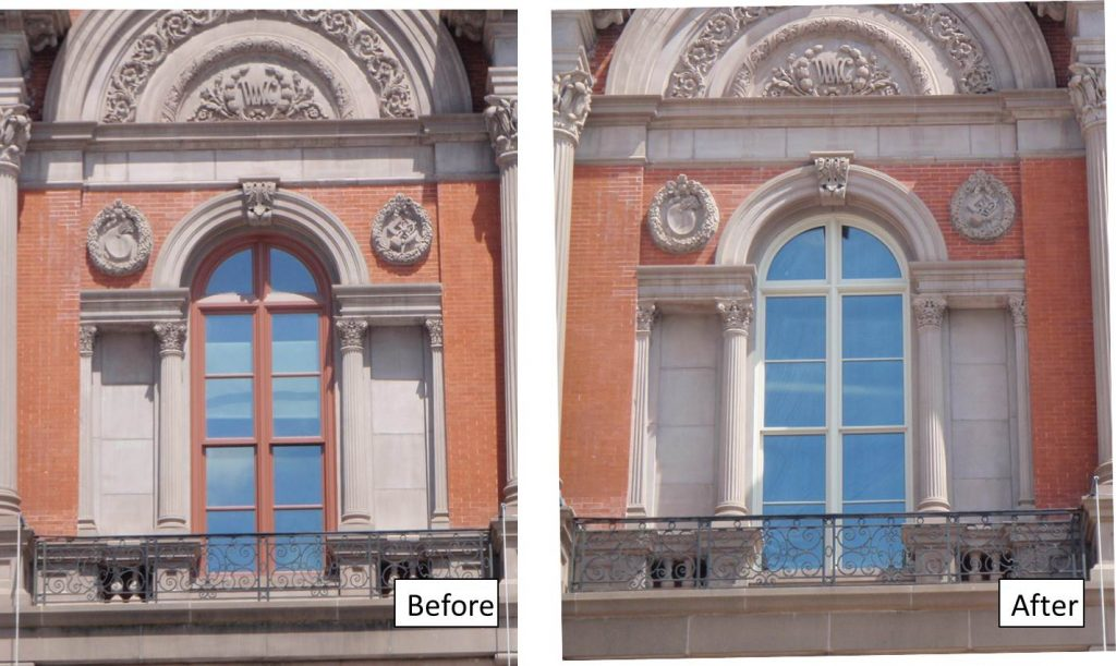 Renwick window before after