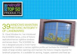 Retrofit Magazine ranks St. Cloud Window's SCW3000 series in their top 50 Products
